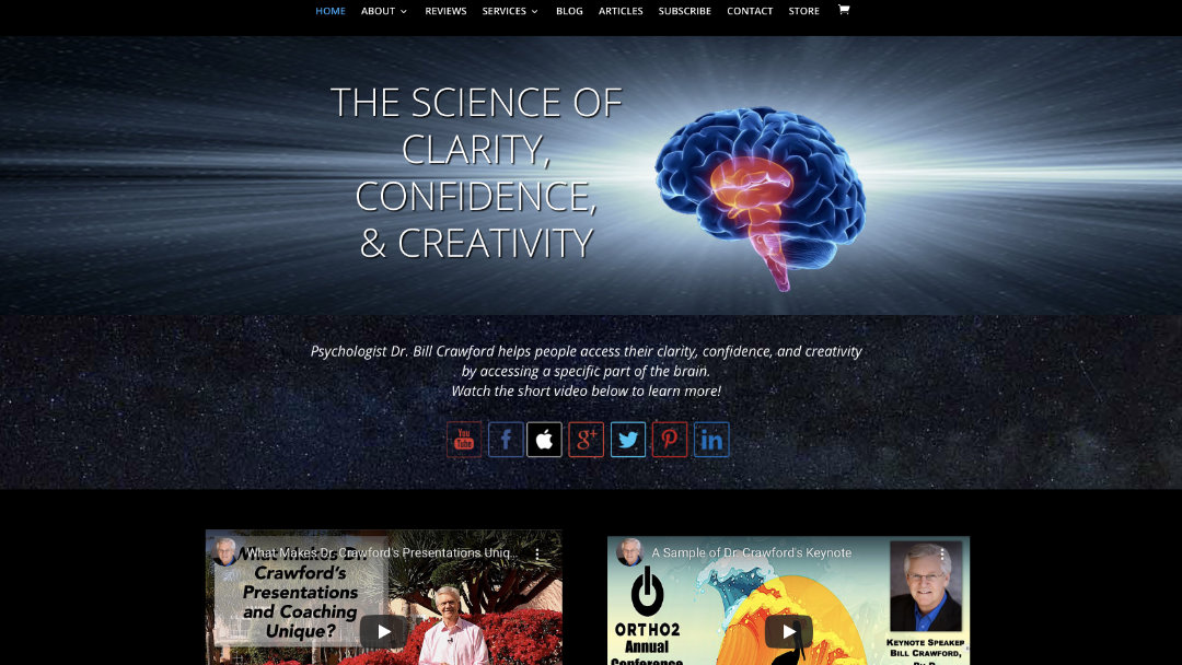 Home Page of the Bill Crawford website project